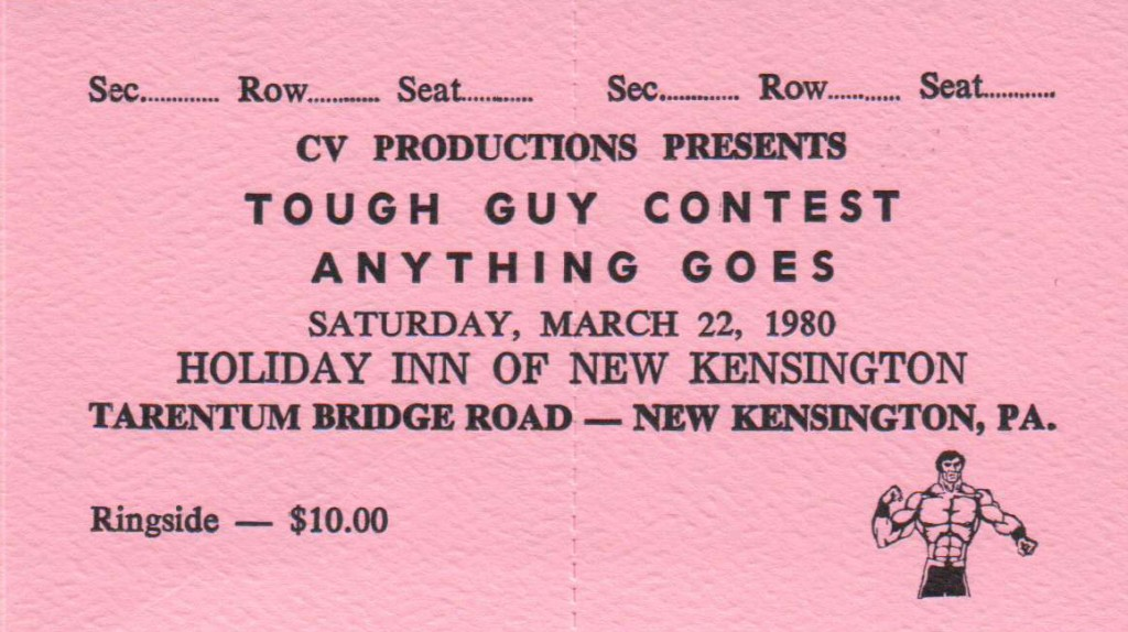 tough guy contest ticket